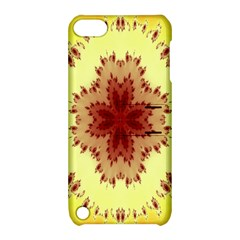 Yellow Digital Kaleidoskope Computer Graphic Apple iPod Touch 5 Hardshell Case with Stand