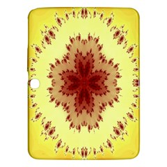 Yellow Digital Kaleidoskope Computer Graphic Samsung Galaxy Tab 3 (10.1 ) P5200 Hardshell Case