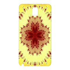 Yellow Digital Kaleidoskope Computer Graphic Samsung Galaxy Note 3 N9005 Hardshell Back Case