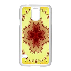 Yellow Digital Kaleidoskope Computer Graphic Samsung Galaxy S5 Case (White)