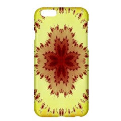 Yellow Digital Kaleidoskope Computer Graphic Apple Iphone 6 Plus/6s Plus Hardshell Case