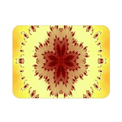 Yellow Digital Kaleidoskope Computer Graphic Double Sided Flano Blanket (mini)