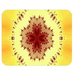 Yellow Digital Kaleidoskope Computer Graphic Double Sided Flano Blanket (Medium)  60 x50 Blanket Front