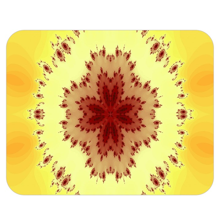Yellow Digital Kaleidoskope Computer Graphic Double Sided Flano Blanket (Medium)