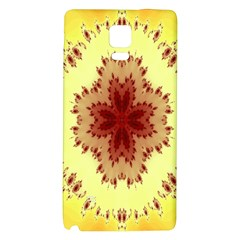 Yellow Digital Kaleidoskope Computer Graphic Galaxy Note 4 Back Case