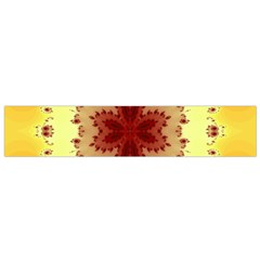 Yellow Digital Kaleidoskope Computer Graphic Flano Scarf (small)