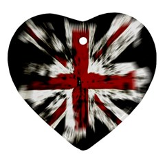 British Flag Ornament (heart)