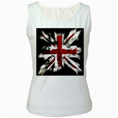 British Flag Women s White Tank Top