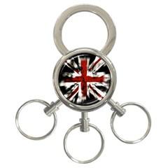 British Flag 3 Ring Key Chains