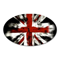 British Flag Oval Magnet