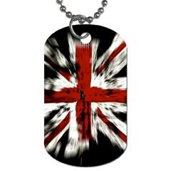 British Flag Dog Tag (One Side)