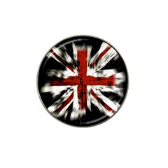British Flag Hat Clip Ball Marker (10 Pack)