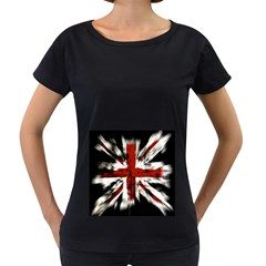 British Flag Women s Loose Fit T Shirt (black)