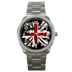 British Flag Sport Metal Watch