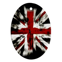 British Flag Oval Ornament (Two Sides)