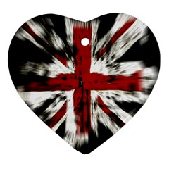 British Flag Heart Ornament (Two Sides)