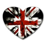 British Flag Heart Mousepads Front