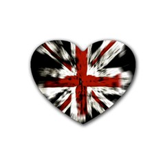 British Flag Rubber Coaster (Heart)