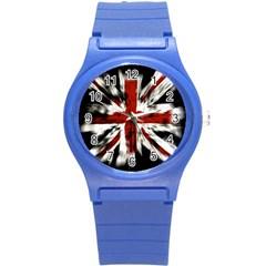 British Flag Round Plastic Sport Watch (s)
