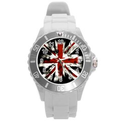 British Flag Round Plastic Sport Watch (l)