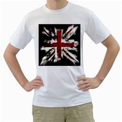 British Flag Men s T-Shirt (White)