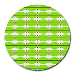 Abstract Pattern Background Wallpaper In Multicoloured Shapes And Stars Round Mousepads