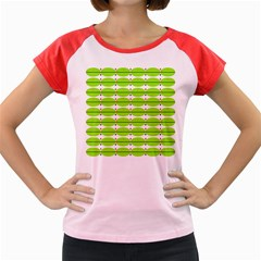 Abstract Pattern Background Wallpaper In Multicoloured Shapes And Stars Women s Cap Sleeve T Shirt