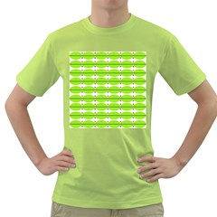 Abstract Pattern Background Wallpaper In Multicoloured Shapes And Stars Green T-Shirt