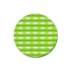 Abstract Pattern Background Wallpaper In Multicoloured Shapes And Stars Rubber Coaster (Round)