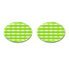 Abstract Pattern Background Wallpaper In Multicoloured Shapes And Stars Cufflinks (Oval)