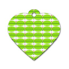 Abstract Pattern Background Wallpaper In Multicoloured Shapes And Stars Dog Tag Heart (One Side)