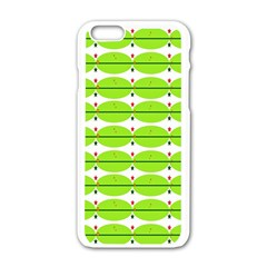 Abstract Pattern Background Wallpaper In Multicoloured Shapes And Stars Apple Iphone 6/6s White Enamel Case