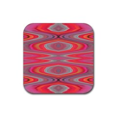 Hard Boiled Candy Abstract Rubber Square Coaster (4 Pack)