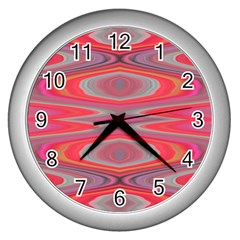 Hard Boiled Candy Abstract Wall Clocks (silver)