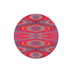 Hard Boiled Candy Abstract Rubber Round Coaster (4 Pack)