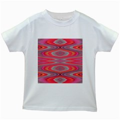Hard Boiled Candy Abstract Kids White T-Shirts