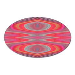 Hard Boiled Candy Abstract Oval Magnet