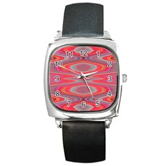 Hard Boiled Candy Abstract Square Metal Watch