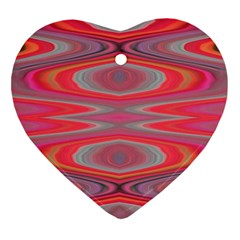 Hard Boiled Candy Abstract Heart Ornament (Two Sides)