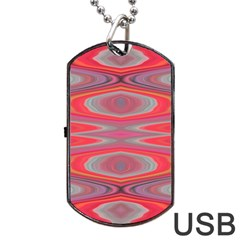 Hard Boiled Candy Abstract Dog Tag USB Flash (Two Sides)