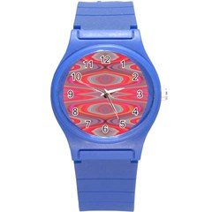 Hard Boiled Candy Abstract Round Plastic Sport Watch (S)