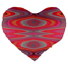 Hard Boiled Candy Abstract Large 19  Premium Heart Shape Cushions