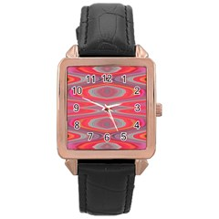 Hard Boiled Candy Abstract Rose Gold Leather Watch