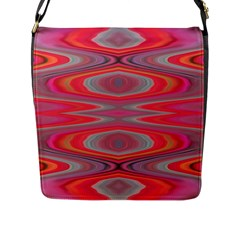 Hard Boiled Candy Abstract Flap Messenger Bag (l)