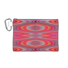 Hard Boiled Candy Abstract Canvas Cosmetic Bag (m)