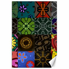 Digitally Created Abstract Patchwork Collage Pattern Canvas 20  X 30