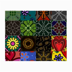 Digitally Created Abstract Patchwork Collage Pattern Small Glasses Cloth (2-Side)