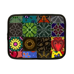 Digitally Created Abstract Patchwork Collage Pattern Netbook Case (small)