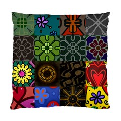 Digitally Created Abstract Patchwork Collage Pattern Standard Cushion Case (Two Sides)