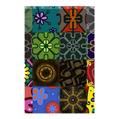 Digitally Created Abstract Patchwork Collage Pattern Shower Curtain 48  x 72  (Small)